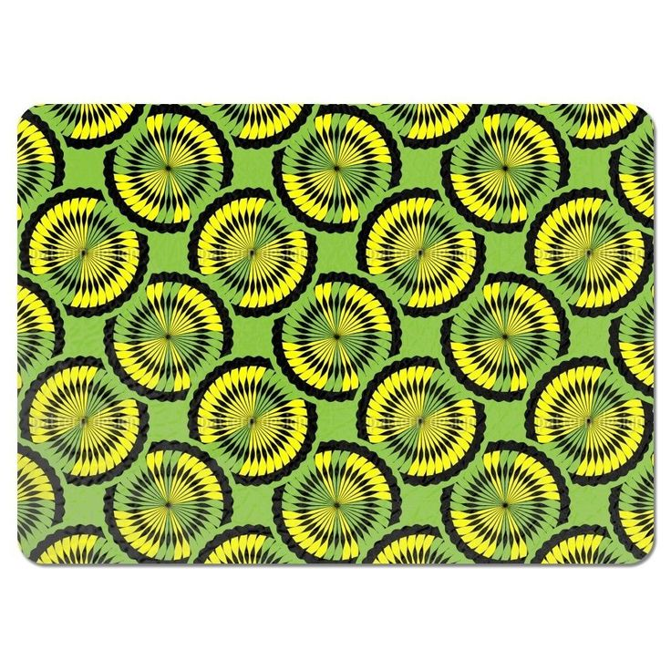 Uneekee Kiwi Tropical Placemats (Set of 4) (Kiwi Tropical Placemat), Multi (Polyester)