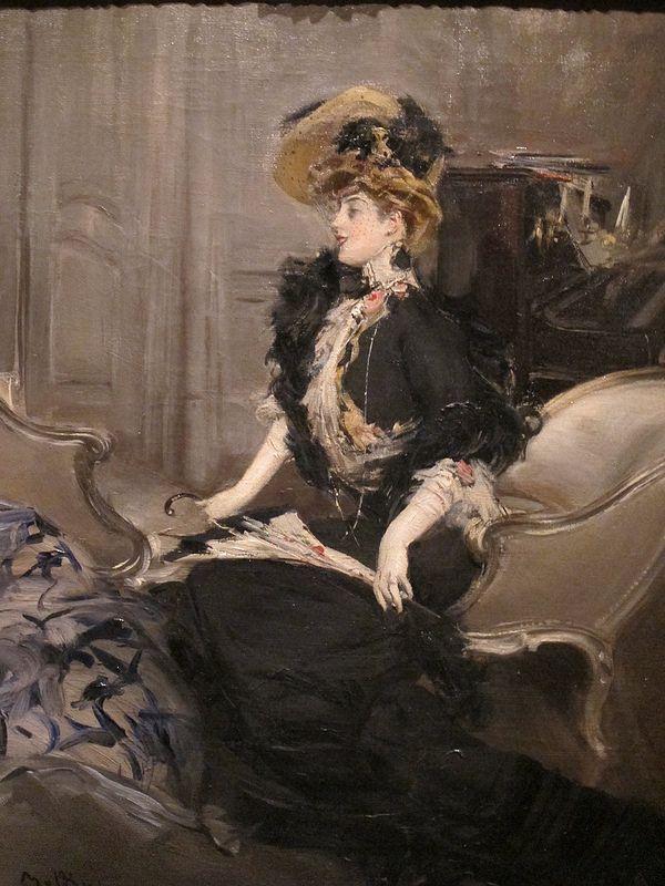 """Giovanni Boldini (Italian, 1842-1931) """"Ritratto di Mme R. L."""" 1901"""