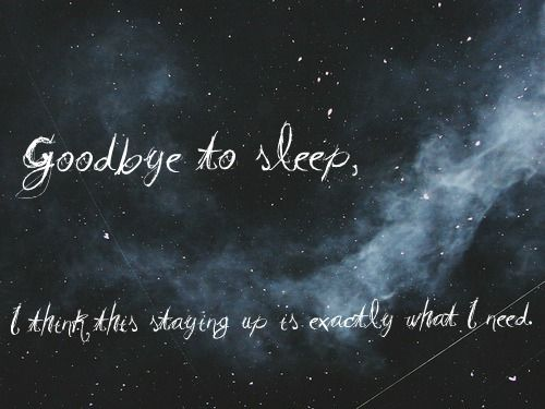 insomnia... brand new