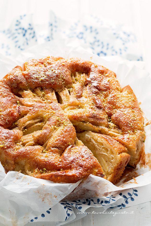 Torta di mele light senza burro - Ricetta Torta di mele light