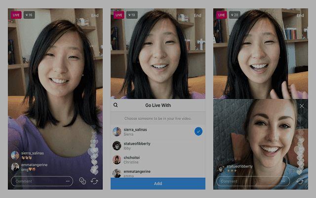 Instagram vous permet d'inviter maintenant à quelqu'un d'autre à se joindre à la diffusion en direct de votre appareil!
