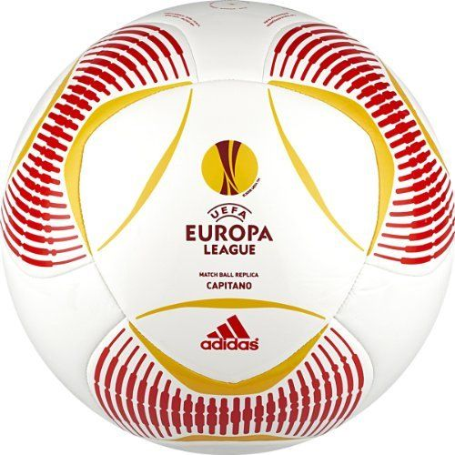 Adidas Predator Europa League Capitano Soccer Ball (White/Red/Yellow, 5) by adidas. $6.91. Machine stitched. This construction (nylon-wound carcass/TPU) ensures a soft touch and high durability. Butyl bladder for best air retention.