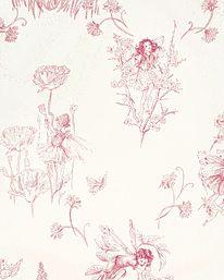 Meadow Flower Fairies Cream från Jane Churchill
