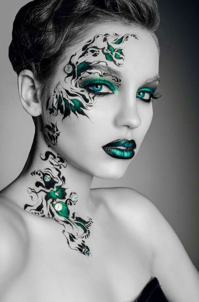 Excessive eye make-up. Fantasy face make-up. Superb lip designs. All very inspiring.... >>> Discover more at the image link