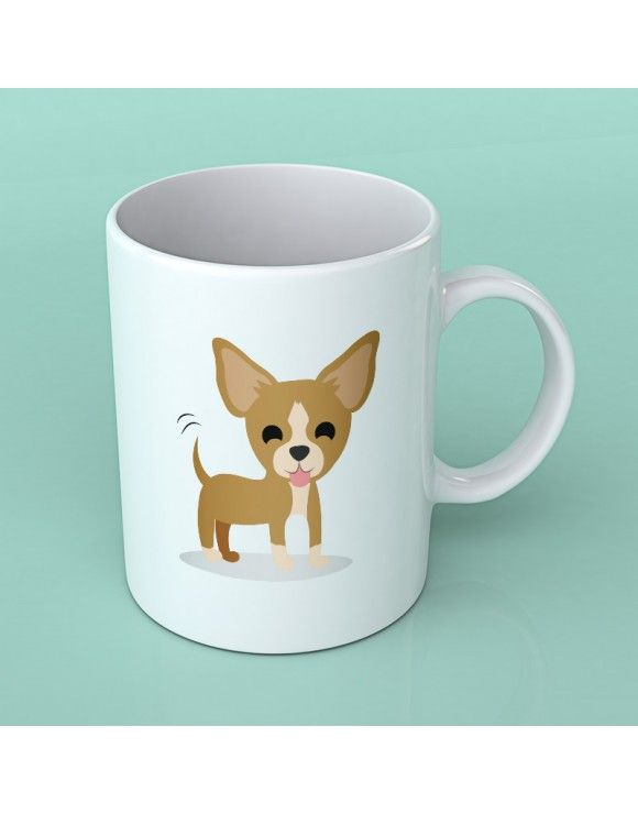 Sabemos que te apasionan los perrosos Chihuahua y por eso te ofrecemos su taza. Desayuna cada día con el divertido dibujo de tu perro.