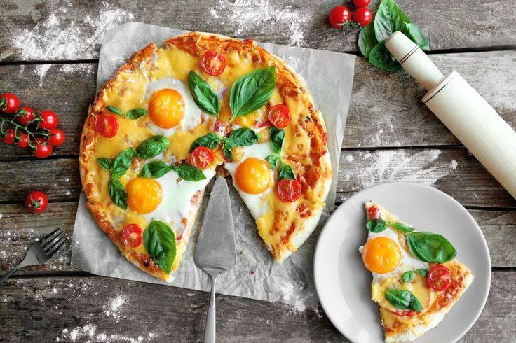 Вкуснейшая пицца на завтрак.