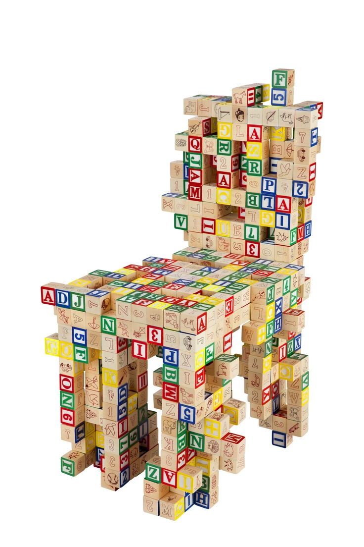 Wood blocks chair.