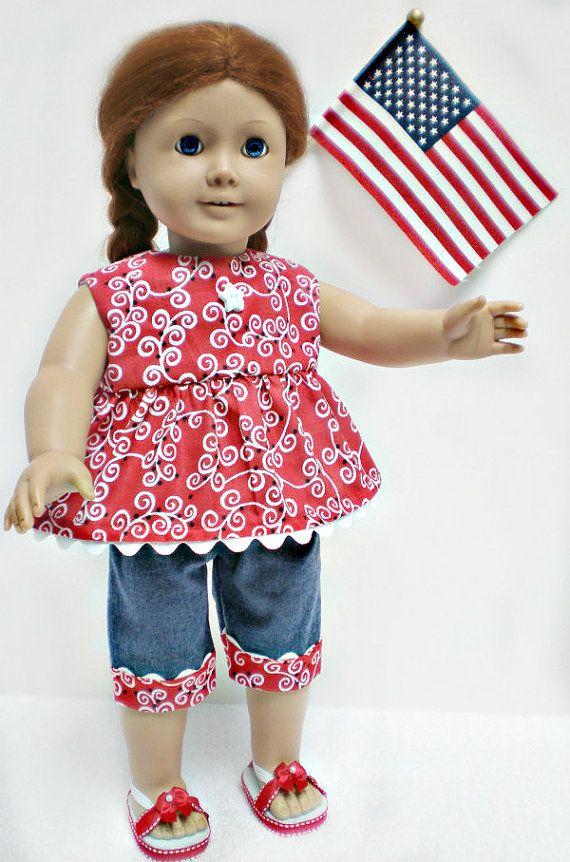 Cute inspiration: American Girl Doll Americana Capri Set  18 inch by dollupmydoll, $18.00