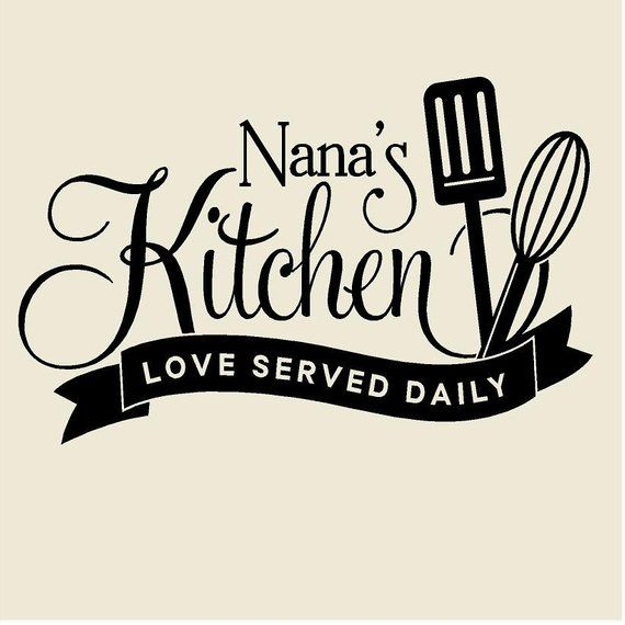 Download Nana's Kitchen Love Served Daily Vinyl Wall Decal   Etsy ...