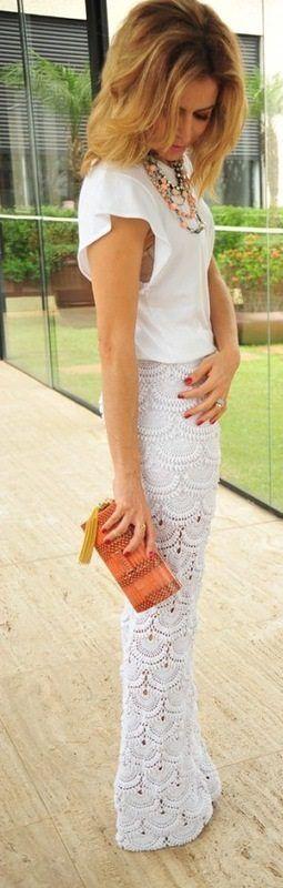Брюки крючком по мотивам Джованны Диас. Красивые стильные брюки крючком со…