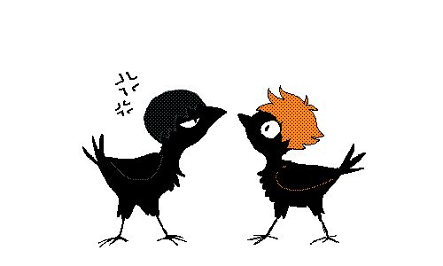 runrabbitjunk:  what if i drew haikyuu crows like i usually draw crows? i dunno but here are these two dorklings