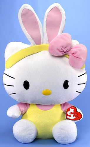 TY Classic Hello Kitty 15 inch Pink Ears~