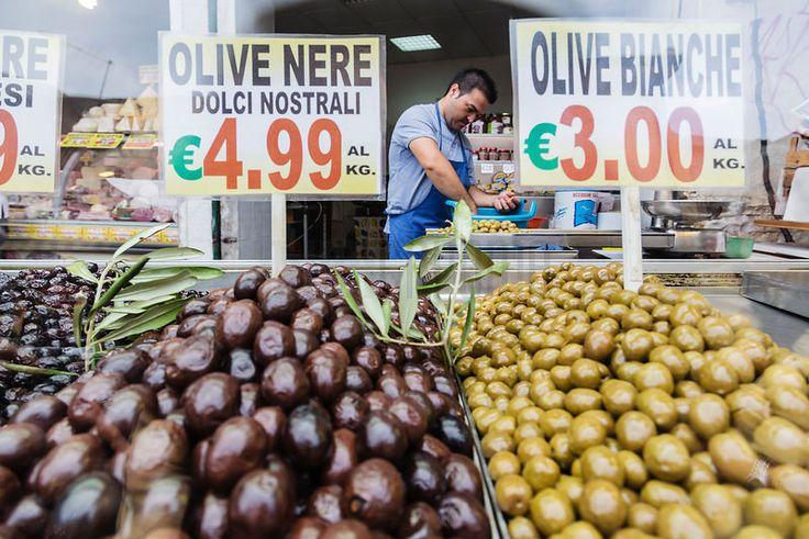Olive Seller at the Ballaro Market