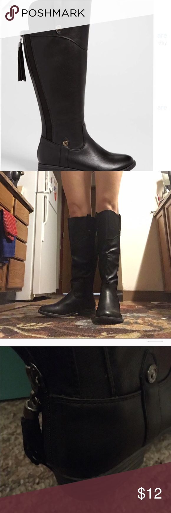 New Black Tassle boots New black Tassel boots. Maurices Shoes Winter & Rain Boots