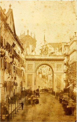 Arco Triunfal nos Clérigos para a recepção do Imperador D. Pedro II