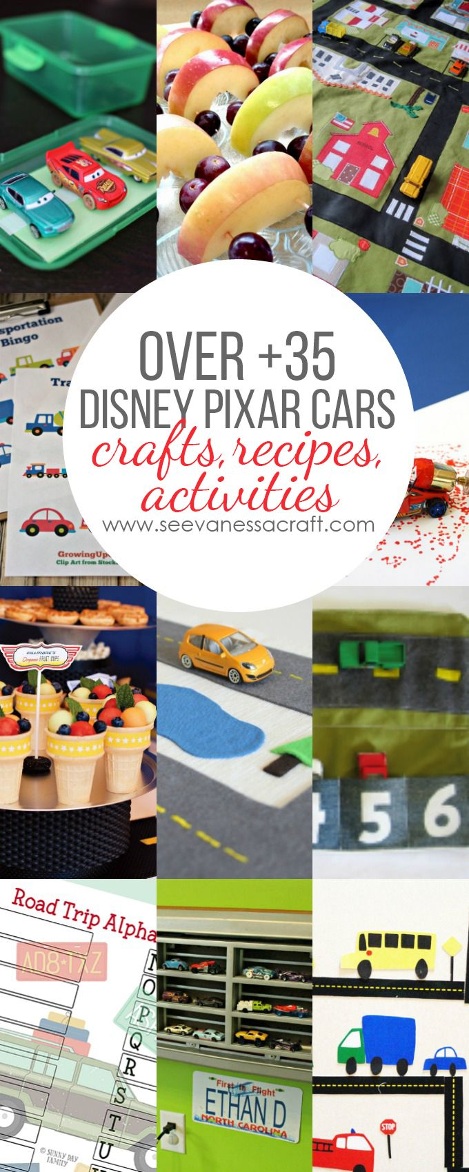 Over 35+ Disney Pixar Cars Crafts, Recipes and Activities!