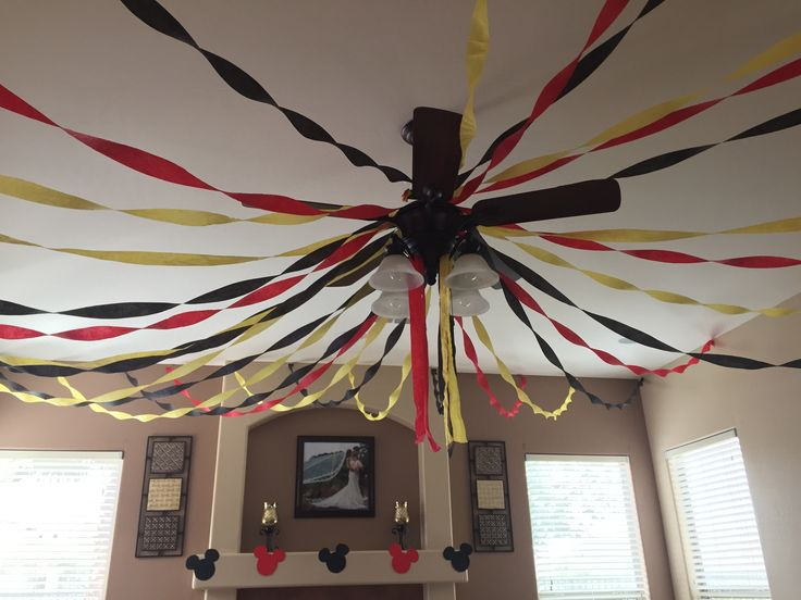 Mickey mouse birthday theme First birthday mickey mouse theme first birthday one year bithday diy mickey mouse decoration streamers streamers decor
