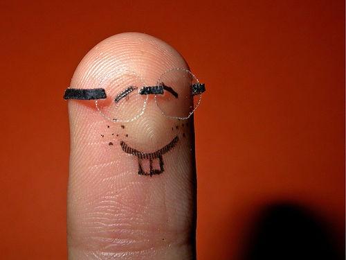 nerdy finger