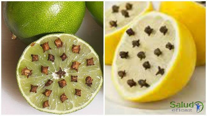 Limón y clavo de olor contra las moscas y mosquitos