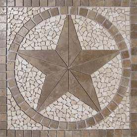 Lowe's - Medallion Stone Floor Tile, would be great in a foyer