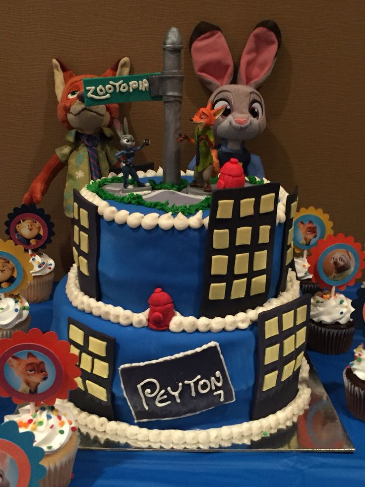 Zootopia Cake Zootopia Birthday Party Pinterest Cakes