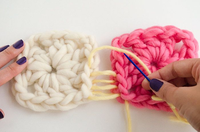 How to join Granny Squares with an invisible seam -- ^croch, basic, 'granny, sew, invisible,