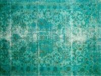 Recoloured vloerkleed/  Derin okyanus / aquamaryn / smaragdgroen