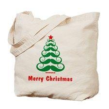 MUSTACHE FUNNY CHRISTMAS TREE Tote Bag