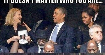 Funny Obama Flirting Wife Switch Seats Joke Meme Picture - It doesn't matter who you are, when your wife says switch seats. you. switch. seats