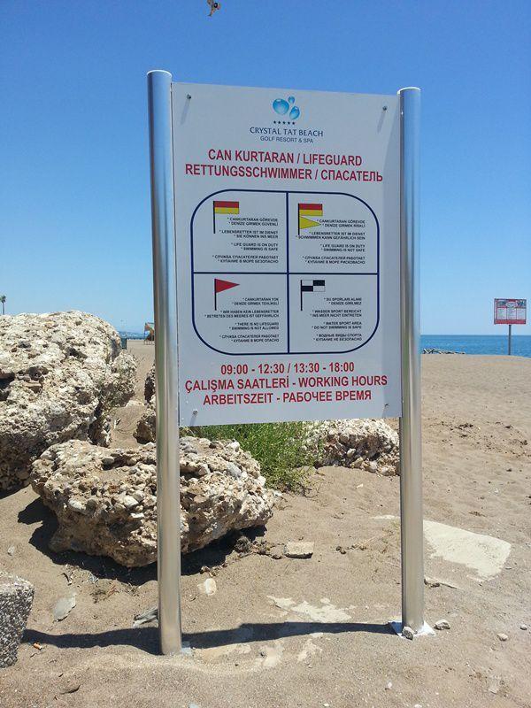 4 Dil Plaj Cankurtaran Kuralları - Otel Kuralları 1