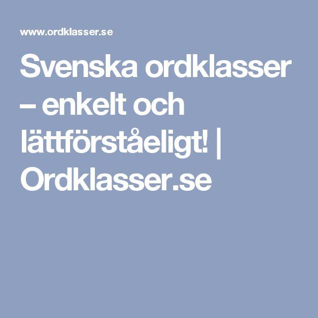 Svenska ordklasser – enkelt och lättförståeligt! | Ordklasser.se