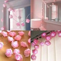 20LEDs Rose Flower String Lights Wedding Garden Party Christmas Decoration  	Features: 1. 100% brand