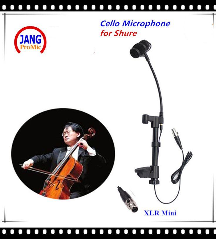 Professional Music Instrument Cello Condenser Microphone Lapela Microfone for Shure Wireless System  XLR Mini 4pin Mikrofon