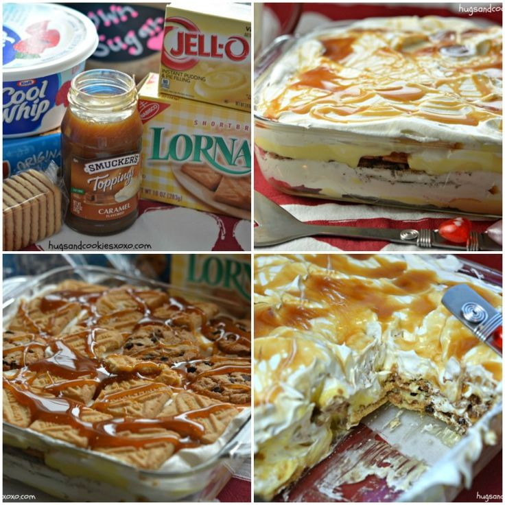 Vanilla Caramel Cookie Lasagna