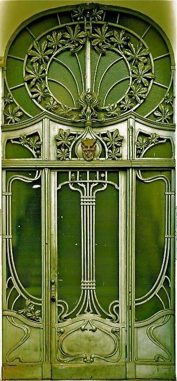 Green door, Art Nouveau.