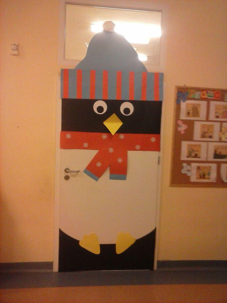Drzwi do sali przedszkolnej w wykonaniu: Edyty Soboń i Iwony Komudy
