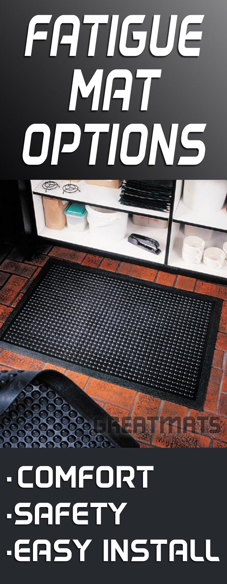 Rubber floor mats standing - Find Fatigue Mats For Industrial And Manufacturing Anti Fatigue Mat Installations With Safety Borders Use Rubber Fatigue Mats For Standing Work Mats
