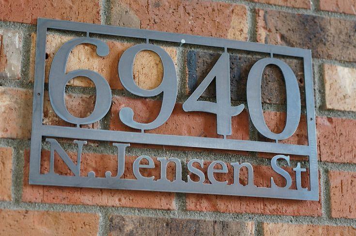 Modern House numbers / Steel house numbers / Craftsman house number /Address / House Address. $40.50, via Etsy.