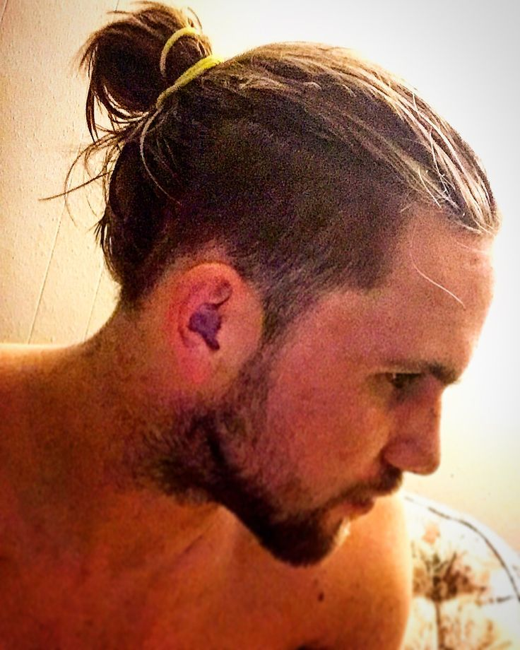 Image result for MAN BUN