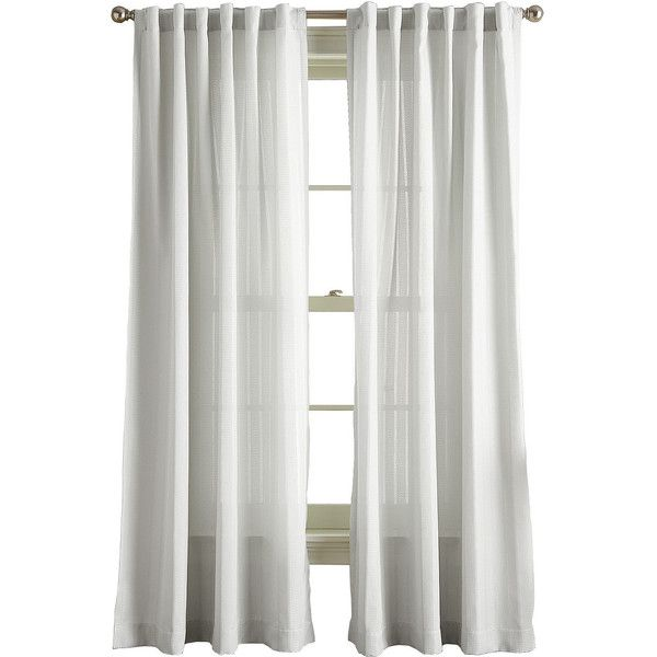 hayden rodpocket backtab curtain panel 55 liked on polyvore featuring home home decor window treatments curtains rod pocket curtain panels pole