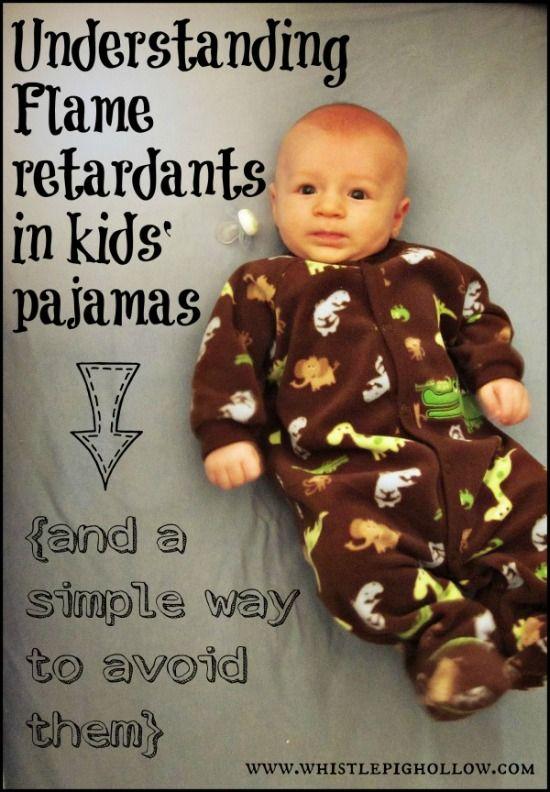 Understanding and avoiding flame retardants in children's pajamas