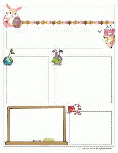 Newsletter templates for Teachers and Homeschool Co-ops #ece #homeschool