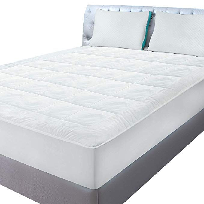 Memory Foam Topper Mattress Cover Queen Size Bed Pad Matress Stretches 16 Inch