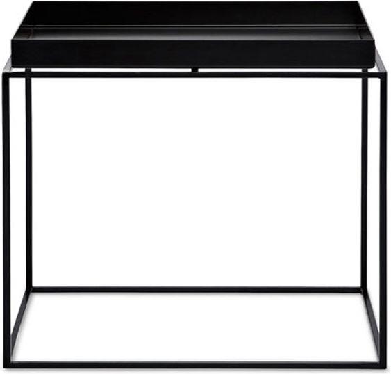 Gezien op Beslist.nl: HAY tafel Tray table tafel-60x60 cm-Zwart