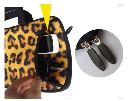 "Leopard Print Mens Ladys 15"" 15.4"" 15.6 in laptop messenge r sleeve Case Carrying Bag with Shoulder Strap Pocket for Apple MacBook Pro 15.4""/Dell inspiron 15 Alienware M15X XPS 15Z/ASUS /HP Pavilion dv6/15.5"""