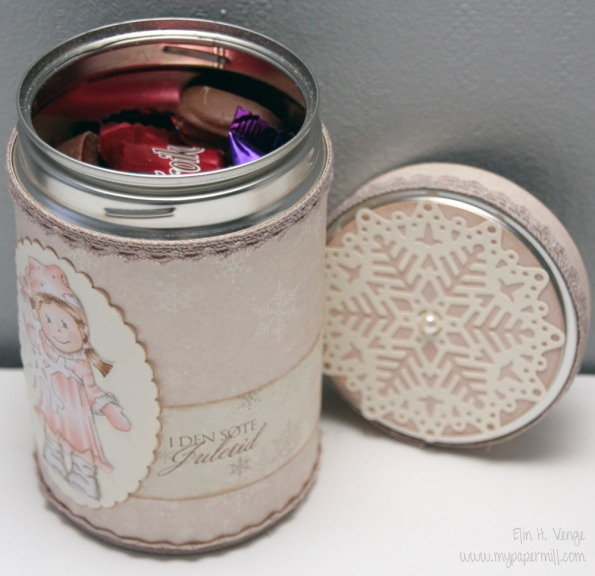 Old espresso tin used for chocolate storage - Christmas 2012