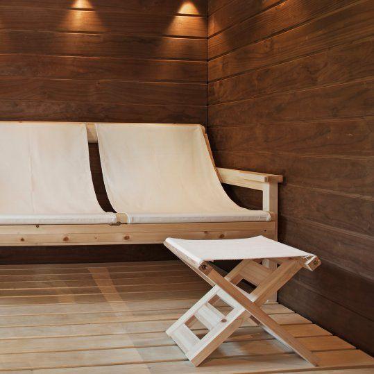 Tuntu sauna chairs, nice idea