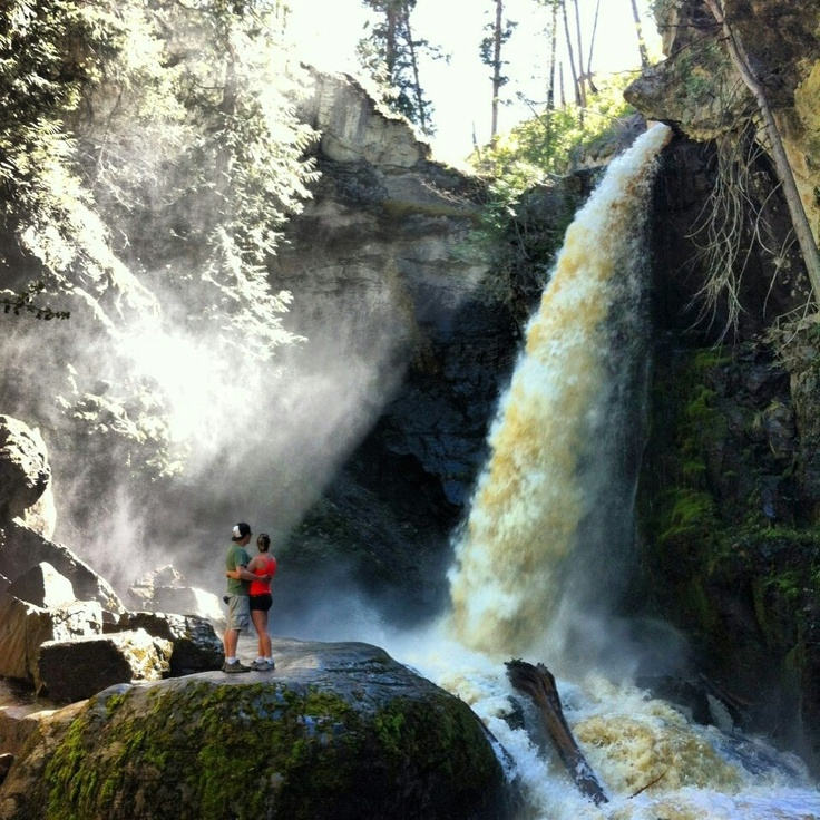Crawford waterfalls, East Kelowna. British Columbia.