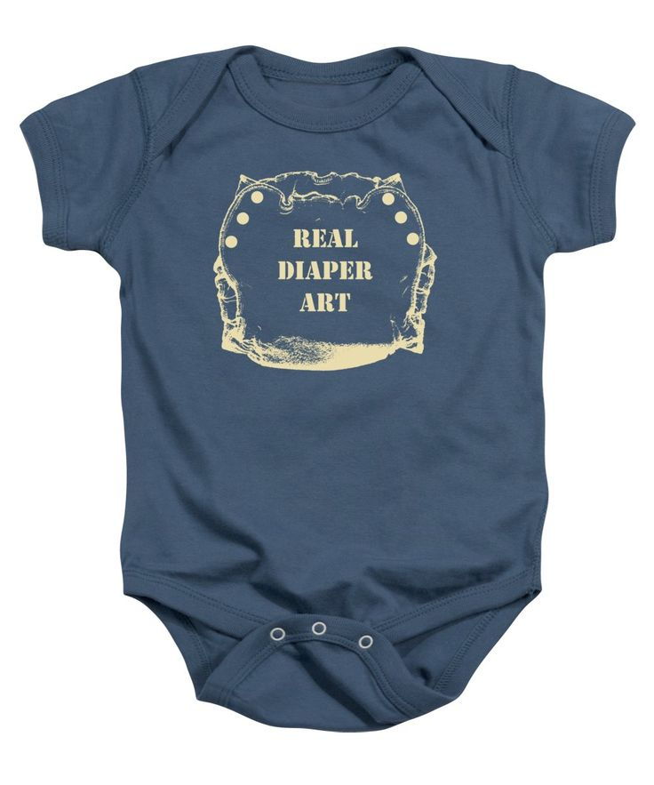 Cloth Diaper Baby Onesie featuring the mixed media Real Diaper Art by Sverre Andreas Fekjan