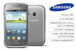 Samsung Galaxy Young Duos S6312 (Silver/English)